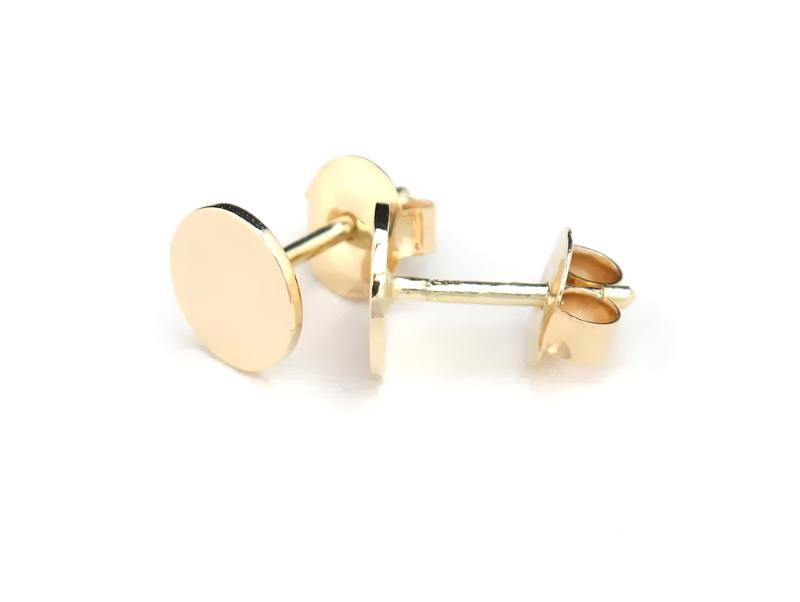 7f968ce8c99d55 Złote kolczyki - krążki GRAWISSIMO.PL - biżuteria z dedykacją